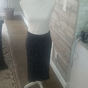 H and M black and grey high waist skirt